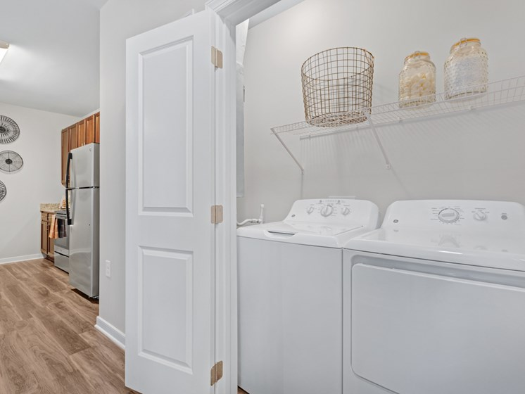 Spacious Laundry Room at Abberly Avera Apartment Homes by HHHunt, Virginia