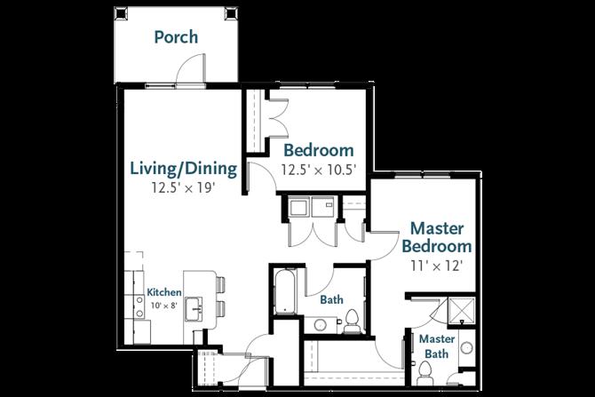 Liberty - Garden Apartment at Deerfield Place, Utica