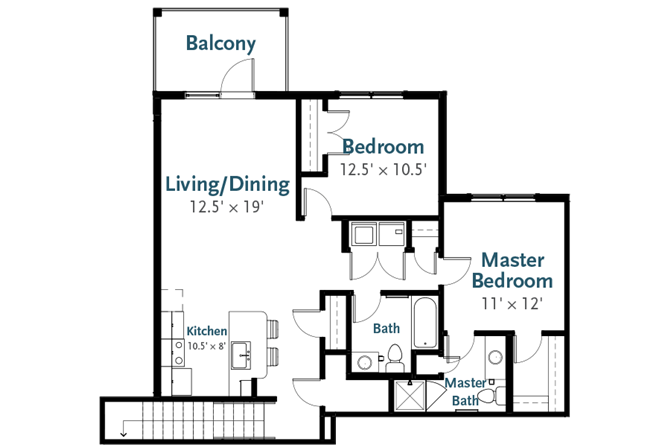 Sterling - Garden Apartment at Deerfield Place, Utica, New York