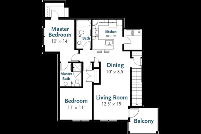 Delta - Garden Apartment at Deerfield Place, Utica, 13502