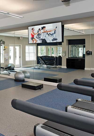 Fully Equipped Fitness Center at Deerfield Place, Utica