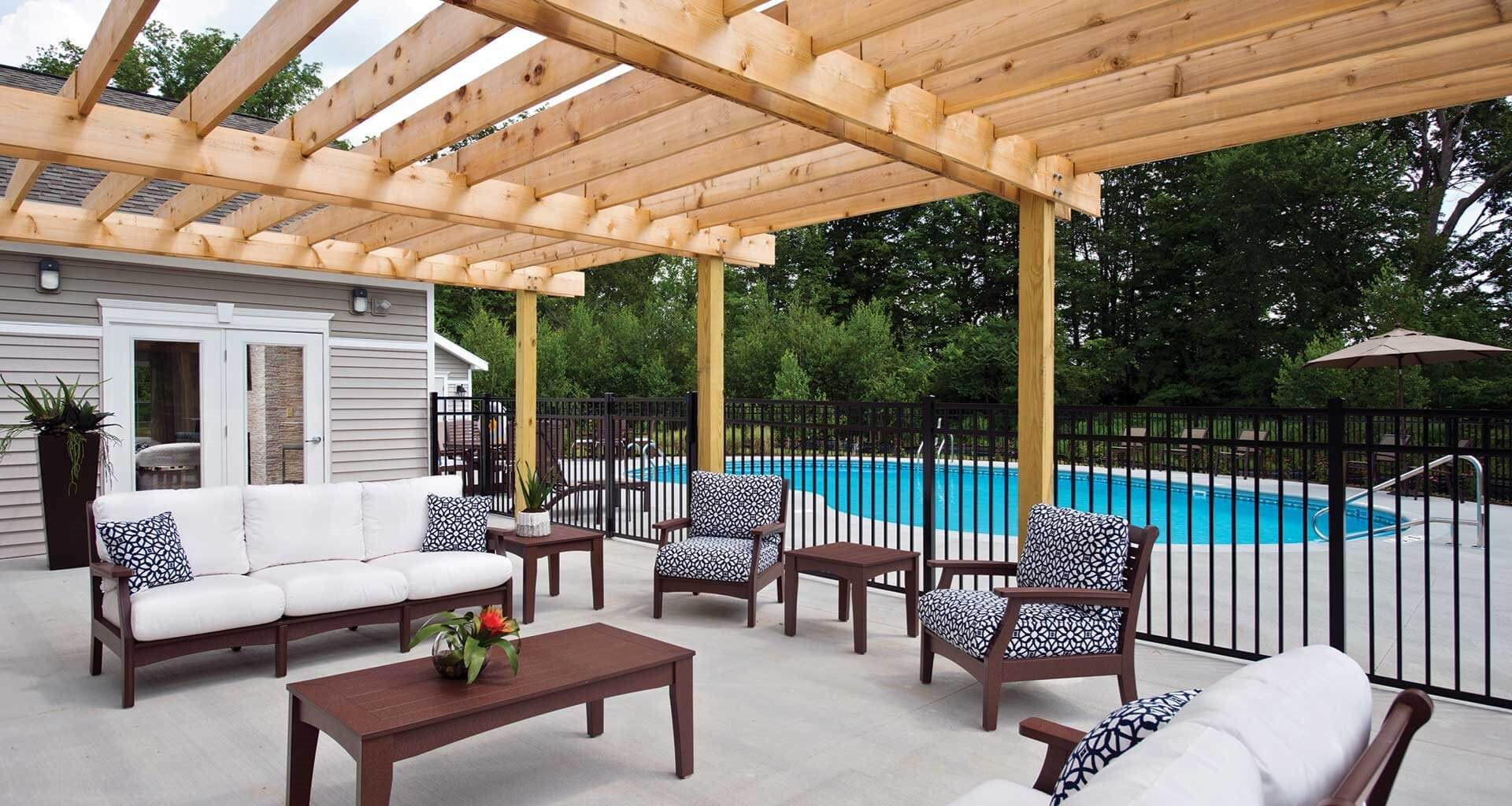 Outdoor Pool at Deerfield Place Luxury Apartments, Utica, NY
