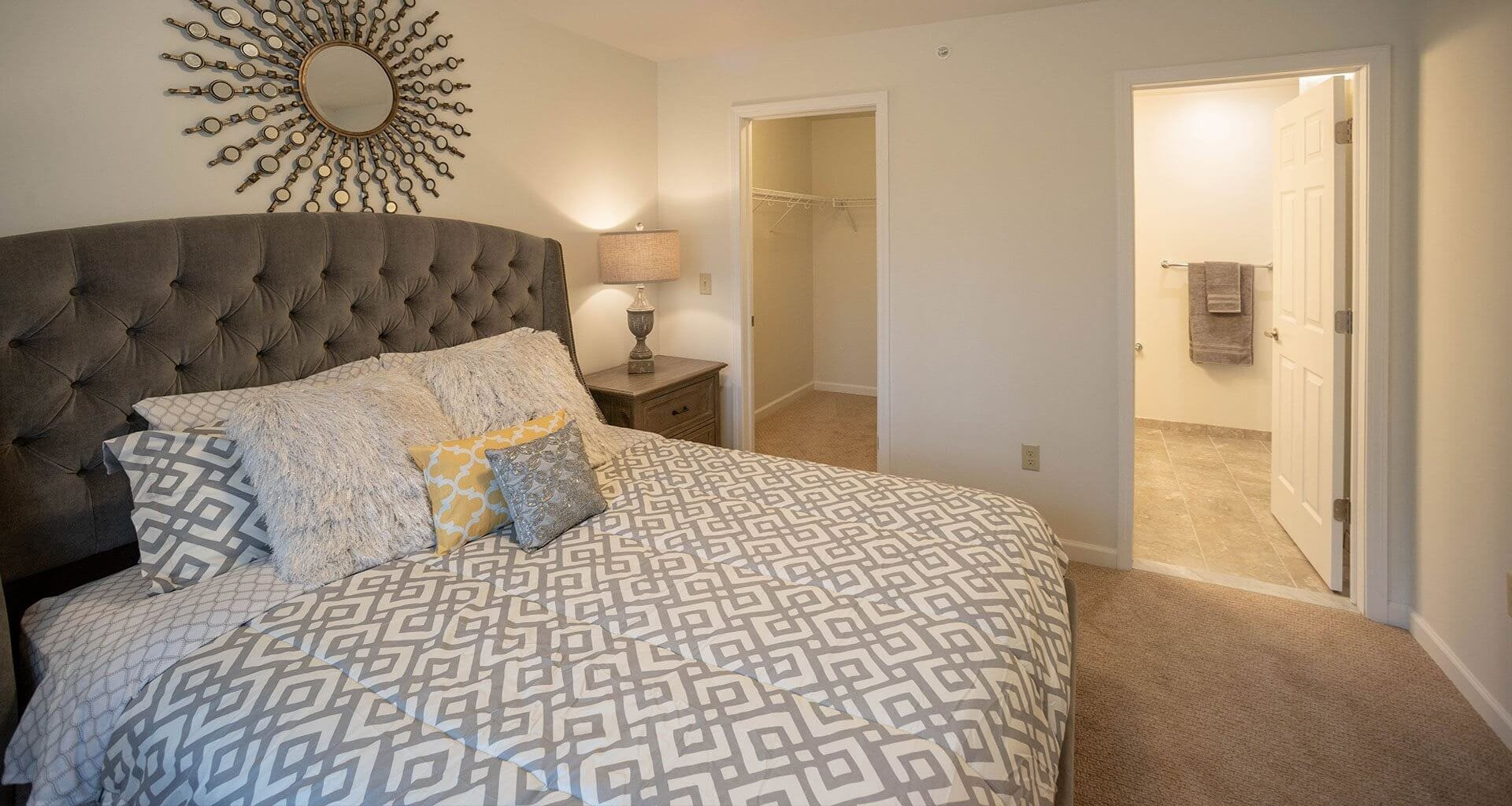 Spacious Bedroom at Deerfield Place Luxury Apartments, Utica