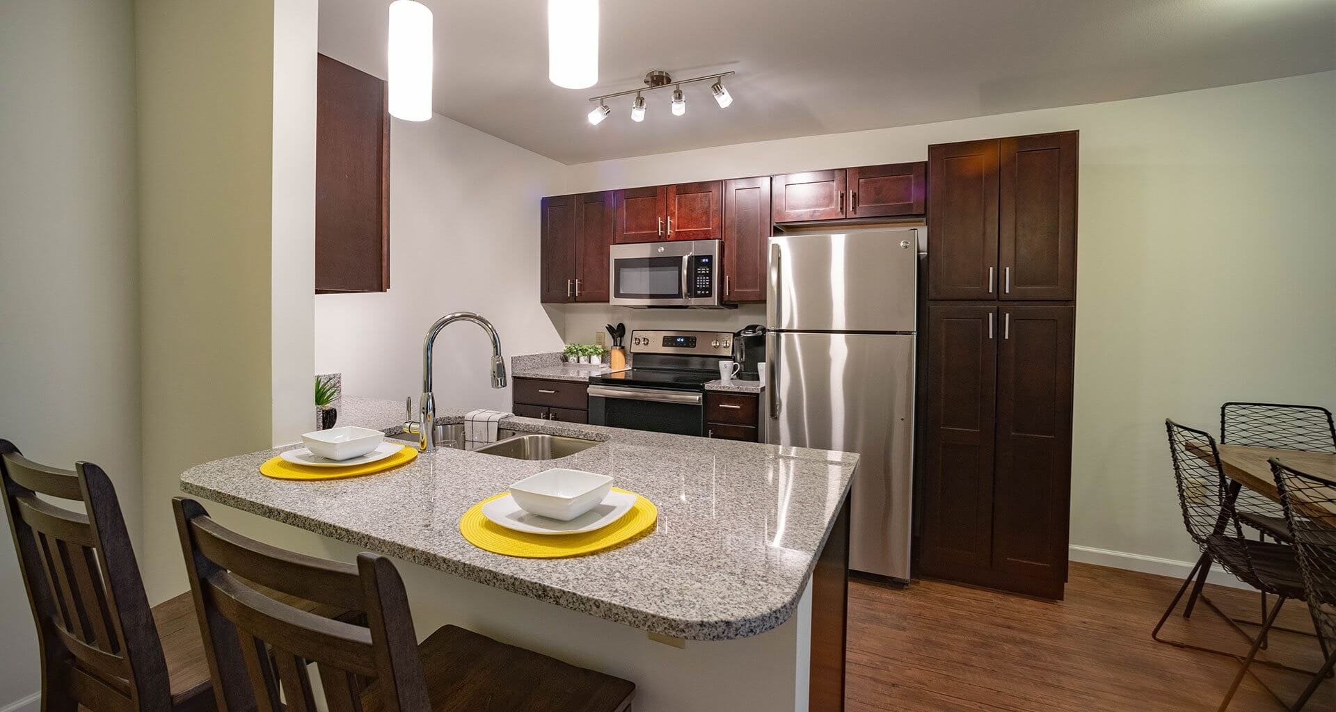 Granite Countertops at Deerfield Place Luxury Apartments, New York