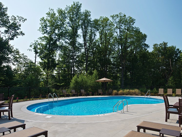 Invigorating Pool at Deerfield Place Luxury Apartments, Utica, 13502
