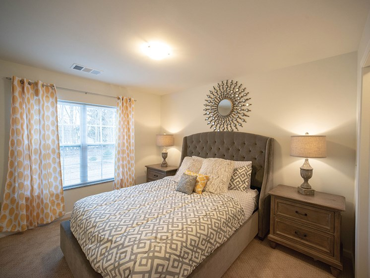 Cozy Bedroom at Deerfield Place Luxury Apartments, New York, 13502