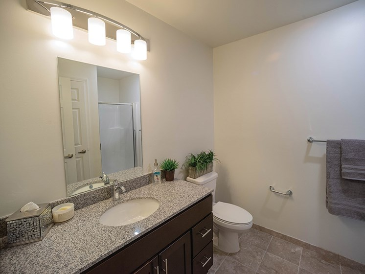 Ceramic Tile Bathrooms at Deerfield Place Luxury Apartments, Utica, NY, 13502