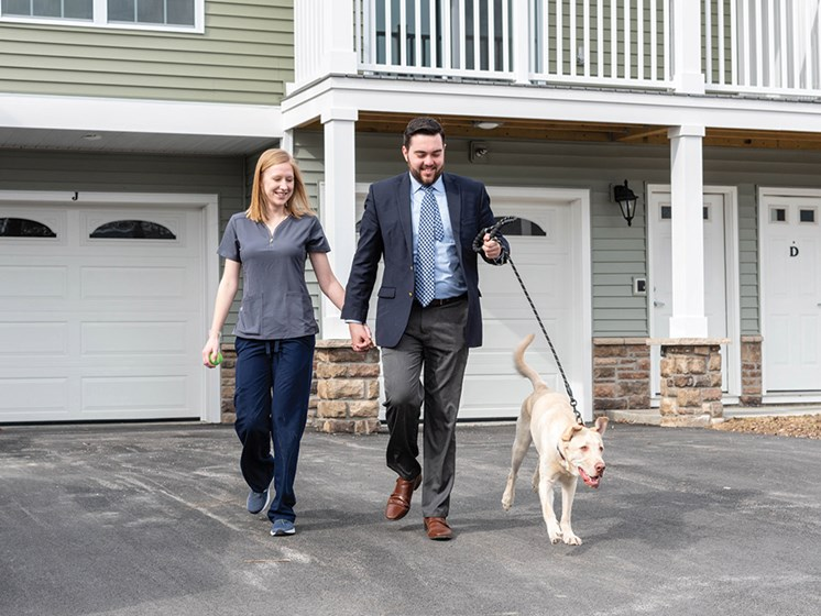 Large Sidewalks Perfect For Pet-Walking at Deerfield Place Luxury Apartments, New York, 13502