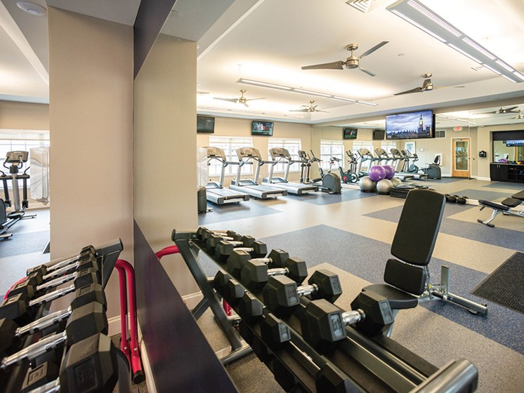 High Endurance Fitness Center at Deerfield Place Luxury Apartments, New York, 13502