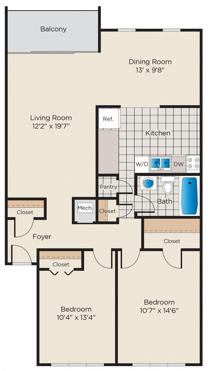 2 Bedroom, 1 Bath - Upgraded