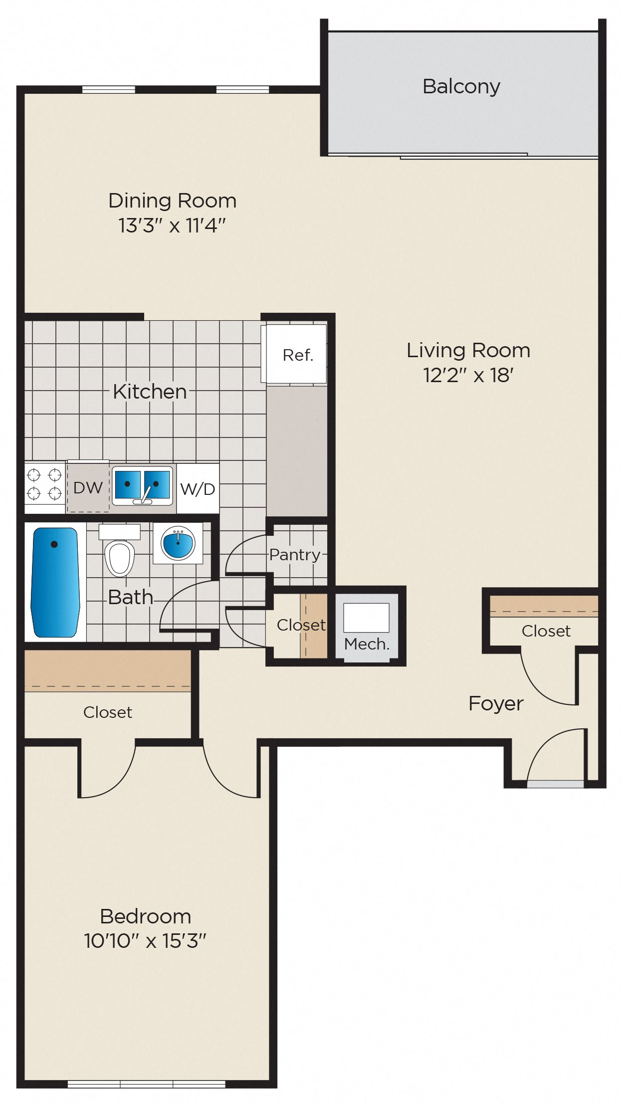 A1: Classic or Upgraded Finish Package Floor Plan 1