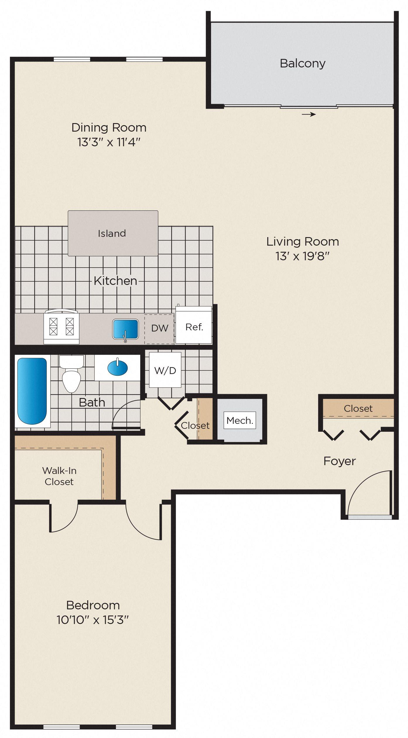 A1p: Premium Renovated Floor Plan 2