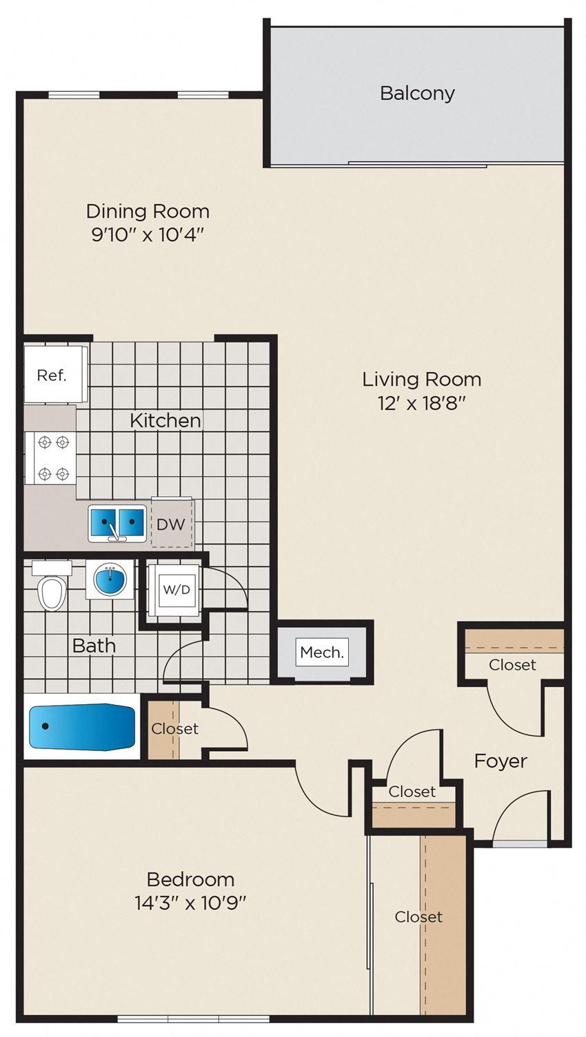 1 Bedroom - Upgraded