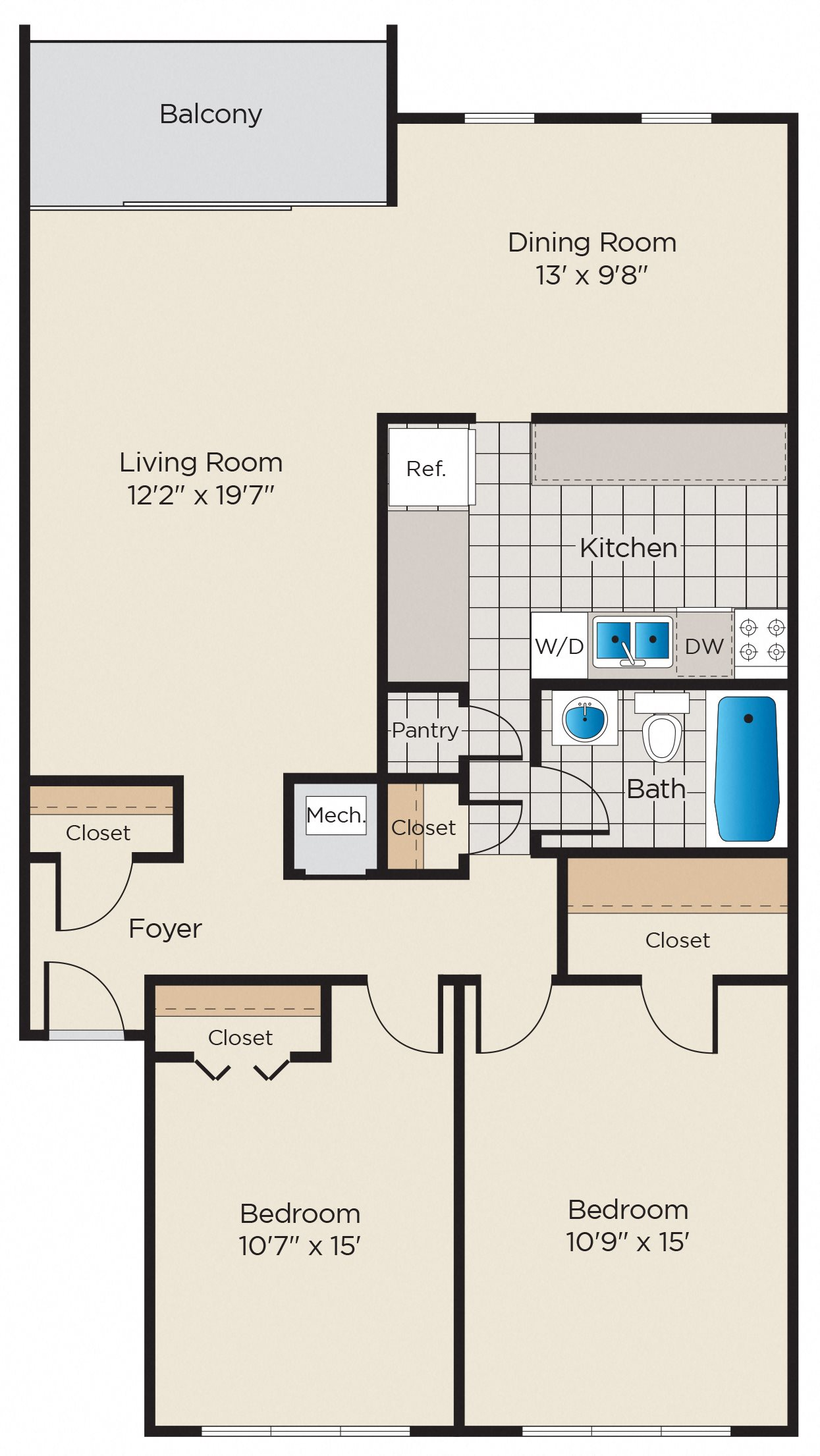 B2: Classic or Upgraded Finish Package Floor Plan 7