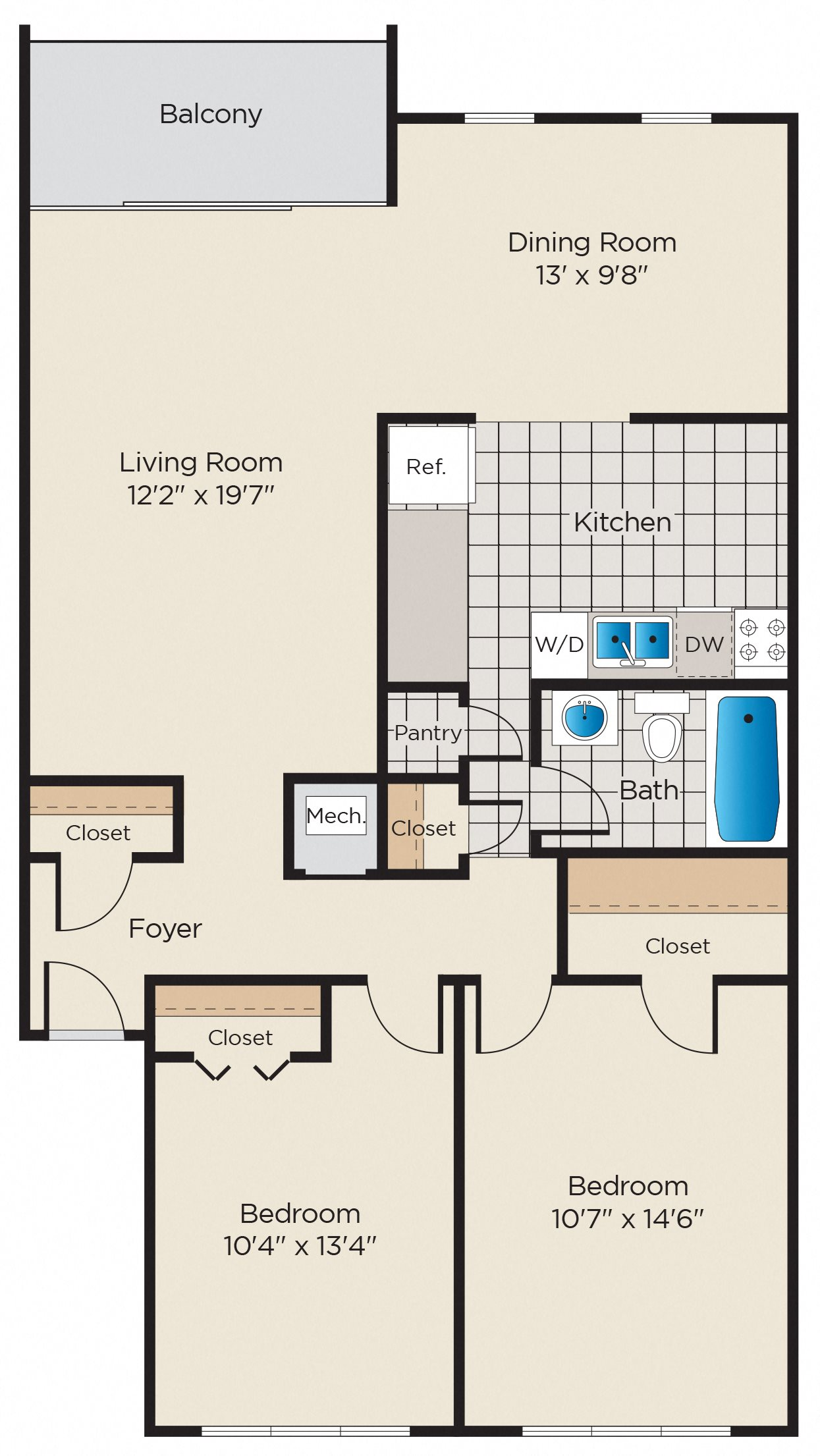 B1: Classic or Upgraded Finish Package Floor Plan 5