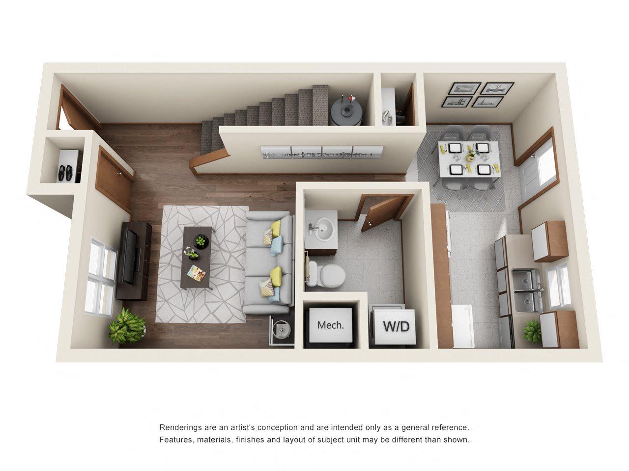 TWO BEDROOM FLOORPLAN Floor Plan 1