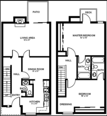 2x2.5 Townhome Floor Plan 4