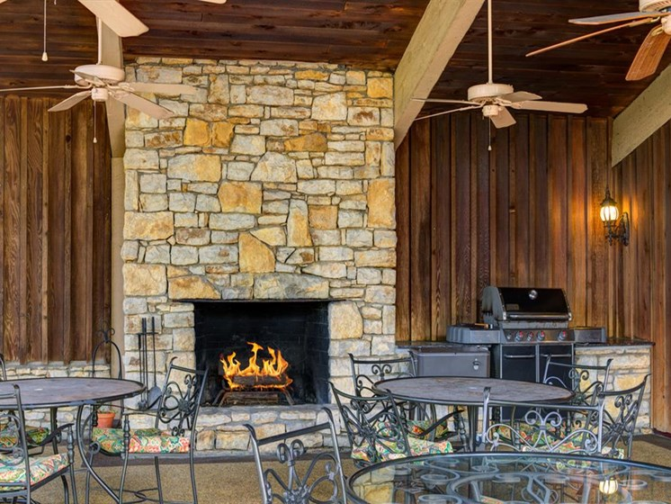 Newly Renovated Resident Clubhouse-Fireplace