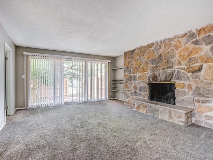 Stone wall-living room