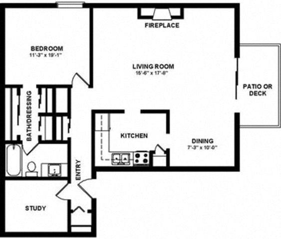 2x1 Floor Plan 3
