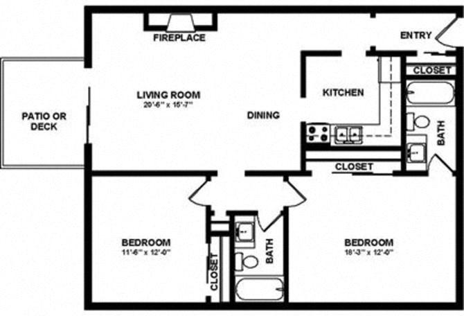 2x2 Floor Plan 4