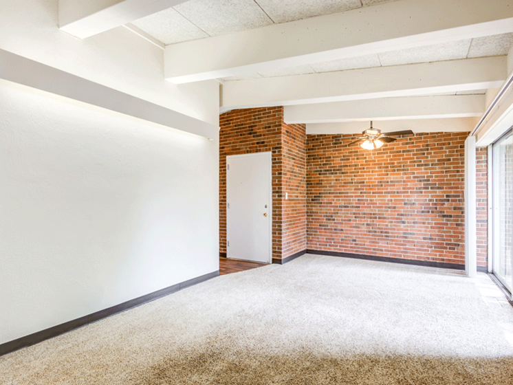 Spacious Floorplans, brick wall