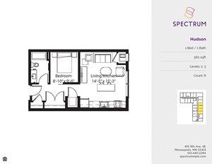Apartment Floorplan at Spectrum Apartments Townhomes Minneapolis