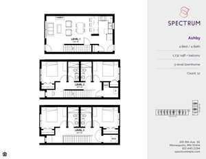 Spectrum Apartments 4 Bedroom Floor Plans