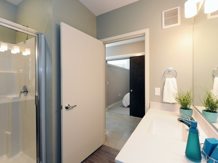 Bathroom at Spectrum Apartments Townhomes Minneapolis