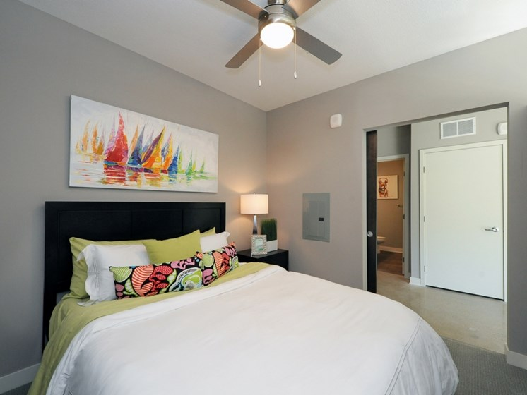 Bedroom at Spectrum Apartments Townhomes Minneapolis