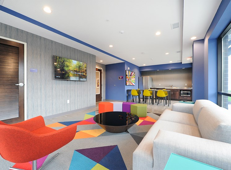 Community Room at Spectrum Apartments Townhomes Minneapolis