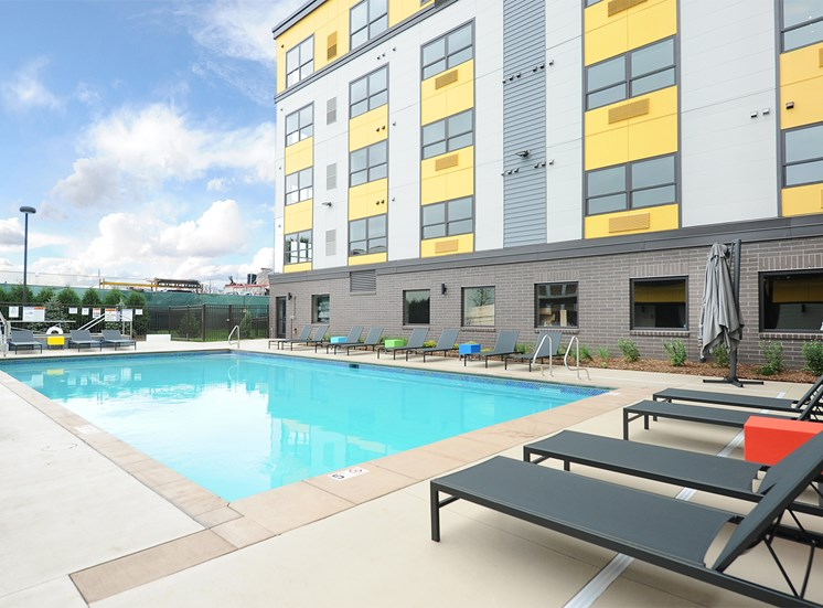Outdoor Pool at Spectrum Apartments