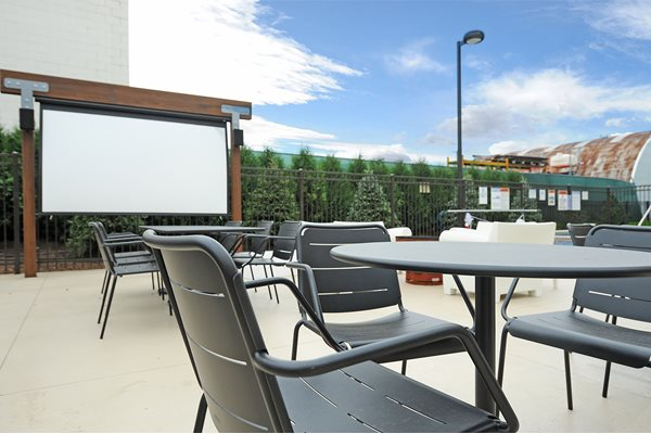Outdoor Cinema on Patio