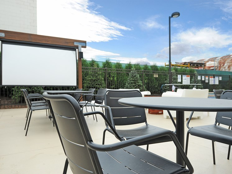 Cinema Movie Screen at Spectrum Apartments Townhomes Minneapolis