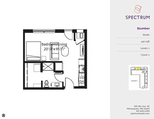Spectrum Apartments Studio Floor Plans