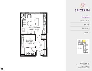 Spectrum Apartments 1 Bedroom Floor Plans