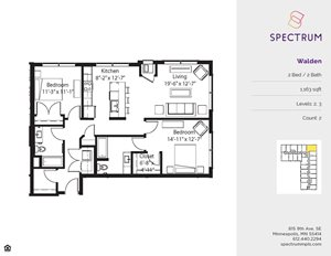 Spectrum Apartments 2 Bedroom Floor Plans