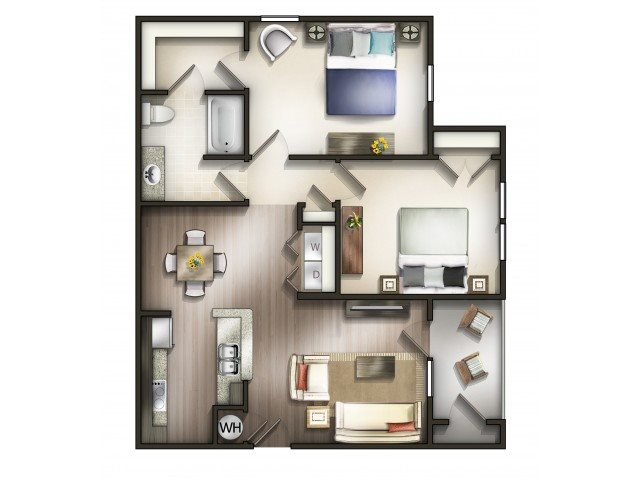 Floor plan at Copperfield Apartments, Smyrna, 37167