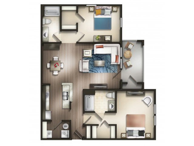 Floor plan at Copperfield Apartments, Smyrna,Tennessee