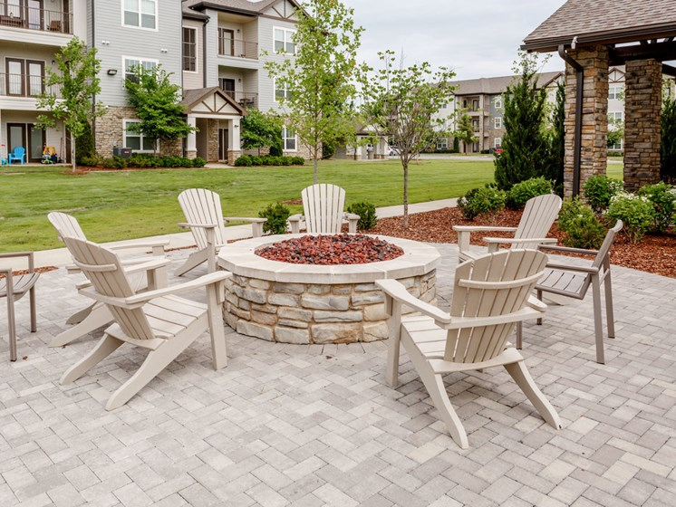 Courtyard Around Firepit at Copperfield Apartments, Smyrna, Tennessee