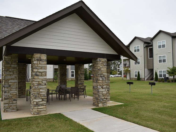 Courtyard Pavillion at Copperfield Apartments, Smyrna, Tennessee