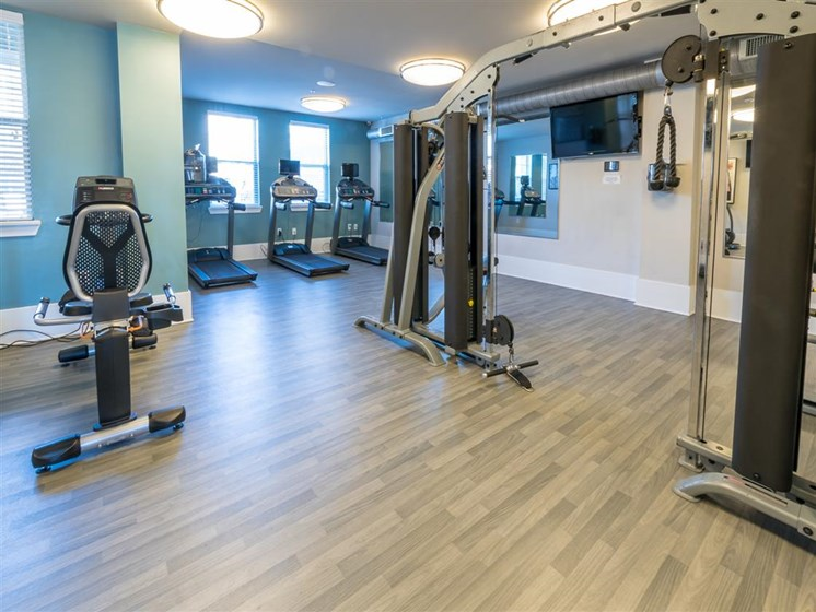 Fitness Club with Cardio Equipment at Marquee Station, Fuquay-Varina,North Carolina