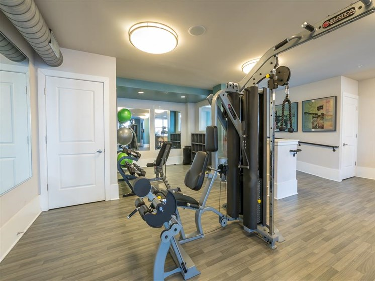 Fully Equipped Fitness Center at Marquee Station, Fuquay-Varina