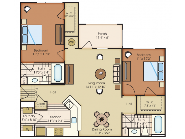 Floor plan at Marquee Station, Fuquay-Varina