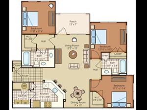 Floor plan at Marquee Station, North Carolina, 27526