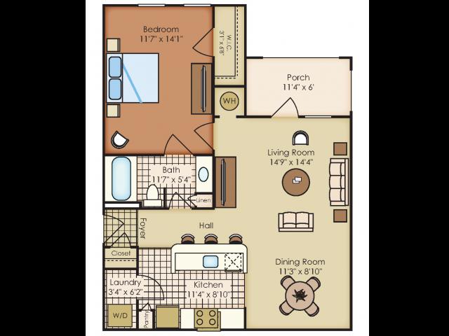 Floor plan at Marquee Station, Fuquay-Varina, 27526