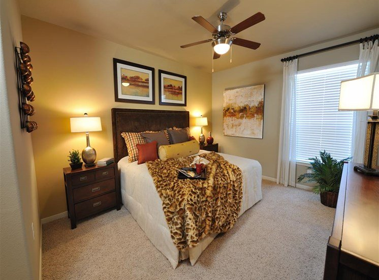 Beige Carpet in Bedroom at Falls at Eagle Creek, Humble, 77396