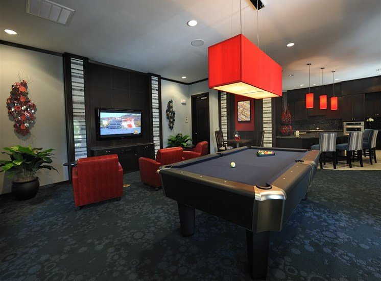 Resident TV Lounge and Game Room with Billiards at Falls at Eagle Creek, Humble, 77396
