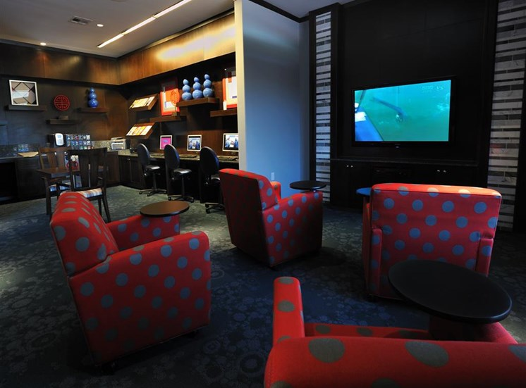 Cyber Cafe with TV Lounge at Falls at Eagle Creek, Humble