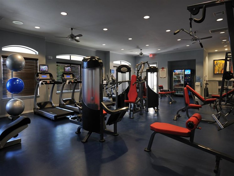 State-Of-The-Art 24 Hour Fitness Center at Falls at Eagle Creek, Texas, 77396